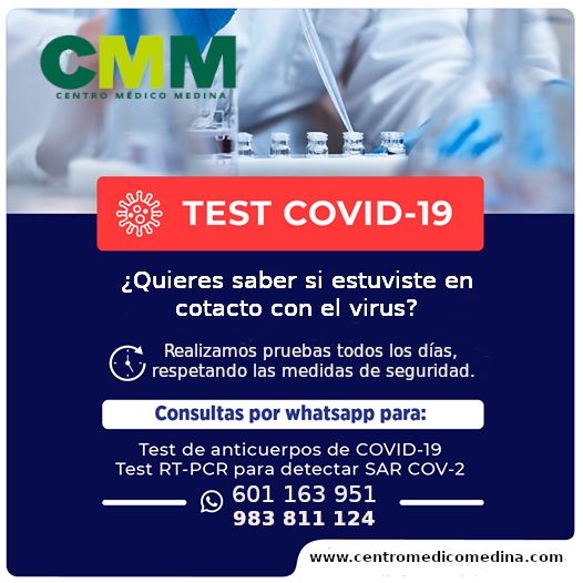 Test Covid 19 en Centro Medico Medina